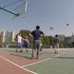 Basketball Roman shoots