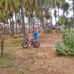 Vojta and his pimp bike in Gili Air